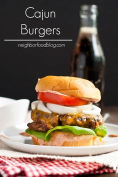 This easy Cajun Burger recipe has just the right amount of kick from a smoky, tangy Cajun spiced sauce.