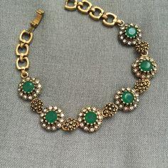 """Emerald bracelet 8"""" long. Jewelry Bracelets"""