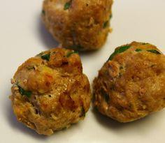 Mini turkey spinach carrot meatballs