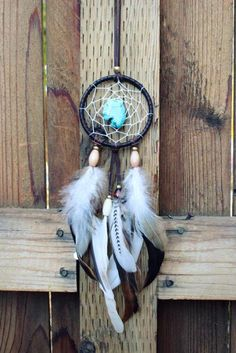 Turquoise Dream Catcher Necklace, Bohemian Necklace, Boho chic, Indie, Western Girl, Tribal on Etsy, $45.00