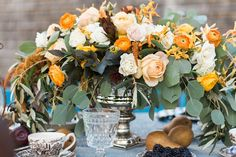 The Vault: Curated & Refined Wedding Inspiration - Style Me Pretty Wedding Decorations, Table Decorations, Orange Wedding, Family Affair, Wedding Images, Event Design, Style Me, Floral Design, Wedding Inspiration