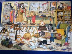Rompecabezas, puzzle, cats, gatos, handcrafts, manualidades