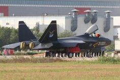 The new Chinese stealth fighter, believed to be the J-21.