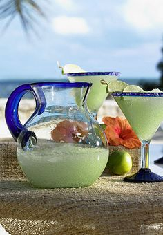 Margarita Recycled Glass Drinkware.