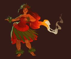 """shoomlah: """" A benefit festival on the Big Island asked to use some of my old Pele art for their flyer, so I drew 'em a new one! My Pele-drawing skills have come… a long way over the past ten years. Hawaiian Legends, Hawaiian Art, Hawaiian Quotes, Hawaiian Dancers, Hawaiian Tribal, Character Inspiration, Character Art, Character Design, Character Sketches"""
