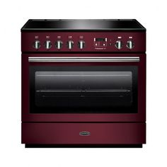 Rangemaster 91140 Professional FX 90cm Dual Fuel, Single Oven Range Cooker in Cranberry and Chrome. Call 01302 63 88 05 for prices.