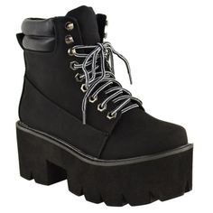 LADIES-WOMENS-CHUNKY-CLEATED-SOLE-PLATFORM-LACE-UP-WORKER-ANKLE-BOOTS-SHOES-PUNK