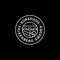 Logo, logotype and print for Swedish seafood producer Korshags by Kurppa Hosk. Opinion by Robert Holmqvist. Monogram Logo, Logo Branding, Branding Design, Corporate Branding, Brand Identity, Kreis Logo Design, Seal Logo, U Logo, Circular Logo
