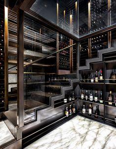 17 Contemporary Wine Cellar Designs That Will Add A Touch Of.- 17 Contemporary Wine Cellar Designs That Will Add A Touch Of Elegance To Your Home - Wine Cellar Modern, Wine Cellar Design, Dream Home Design, Home Interior Design, Modern Apartment Design, Luxury Home Decor, Luxury Homes, Cave A Vin Design, Home Wine Cellars
