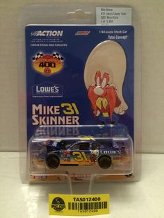 (TAS012400) - Action Collectibles 1:64 Scale Mike Skinner #31 Lowe's/Looney Tune