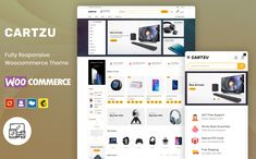 Multipurpose Electronic Shop Design WooCommerce Template by Webibazaar | TemplateMonster Ecommerce Website Design, Website Design Layout, Website Design Inspiration, Web Layout, Layout Design, Learn Web Design, Creative Web Design, Best Website Templates, Electronic Shop