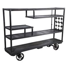 Mid-Century Industrial Rolling Shelf Cart | From a unique collection of antique and modern carts at http://www.1stdibs.com/furniture/more-furniture-collectibles/carts/