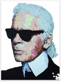 Karl Lagerfeld Painting by Miami artist, Charlie Hanavich. Karl Lagerfeld Choupette, Andy Warhol, Chanel, Fendi, Karl Otto, Pop Art, Art Deco Living Room, Culture Pop, Colossal Art