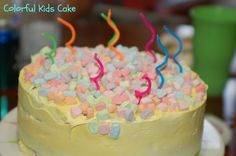 Easy Colorful Birthday Cake for Kids!