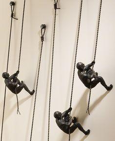 dekoideen wohnzimmer_wände gestalten mit 3d Wanddeko metall Mehr
