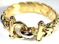 52 4 Grams 18k Italian Gold Bracelet With 20cm Long L386 Chain