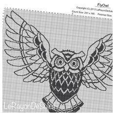 Modern Cross stitch pattern large wings flying by LeRayonDeSoleil