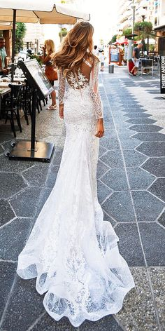 >>>Cheap Sale OFF! >>>Visit>> 36 Lace Wedding Dresses That You Will Absolutely Love ❤ lace wedding dresses backless trumpet long sleeves with train milla nova ❤ See more: www. Wedding Dresses 2018, Bridal Dresses, Dress Wedding, Mermaid Dresses, Lace Dresses, Long Sleeve Wedding, Lace Wedding, Mermaid Wedding, Wedding Bride