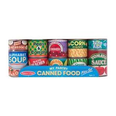 Melissa and Doug Lets Play House Grocery Cans