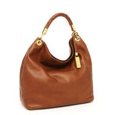 Michael Kors Skorpios Large Shoulder Bag, Cinnamon found on Polyvore