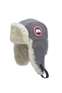 Canada Goose merino wool shearling pilot hat in oxford Still Waiting For  You b3eb2e953d10