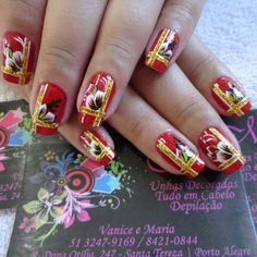 Nail Vermelha by Vanice Moura.