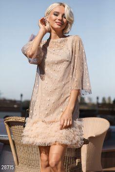 d738c80ae05c638 Gepur   Нежное платье с оборками арт. 28715 Цена от производителя,  достоверные описание,