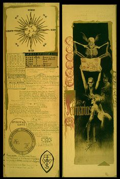 Magic Calender of 1895 ; Colored Lithographs by Manuel Orazi. A rare piece of occultist ephemera, printed in an edition of 777 copies to commemorate magic for the coming year of 1896.