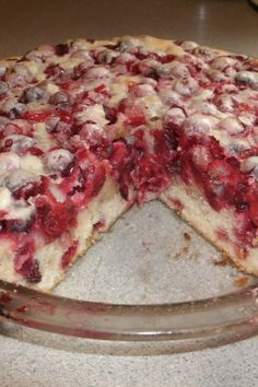 Cranberry pie without rind - Destination vacances été 2019 Thanksgiving Desserts, Holiday Desserts, Holiday Baking, Just Desserts, Holiday Recipes, Delicious Desserts, Yummy Food, Christmas Recipes, Christmas Sweets