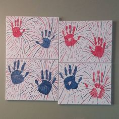 We made firework handprint art today. We have been making handprint art for all of the holidays and seasons. We have a pretty good collection now. I need to hurry up and make the rest. Audrey's hands are almost as big as mine. #handprintart #wesamandaadopt #4thofjulyart #4thofjuly2018 #handprints #fireworkart #fireworks #forthofjuly #redwhiteblue #familyartproject #redwhiteandblue