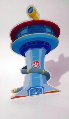 Enfeite Torre Patrulha Canina | Gedu - Arte em Papel | Elo7