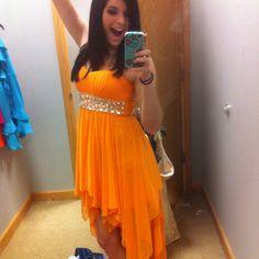 Orange prom dress!