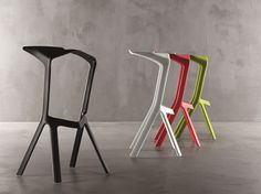 The Miura bar stool by manufacturer Plank is an innovative piece of furniture through and through. Compared to the Miura a regular bar stool is a conglomeration Plank, Stackable Stools, Stacking Chairs, Home Furniture, Furniture Design, Metal Furniture, Office Furniture, Vitra Design Museum, Outdoor Stools