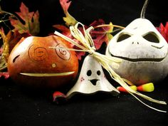 Items similar to Halloween small gourds all you need decoration set trick or treat on Etsy