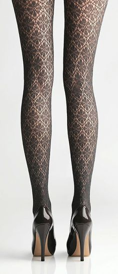 Grey Lace Tights