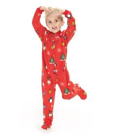 Love this Red Holly Jolly Christmas Footie Pajamas - Toddler by Footed  Pajamas on  zulily 899effac9