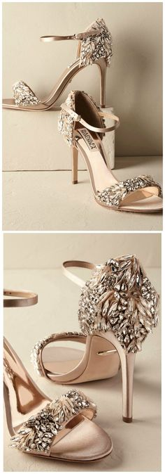 Glamorous Bridal Heels | Wedding Shoes by BHLDN http://feedproxy.google.com/fashiongoshoes4