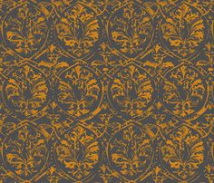 deer_damaskBRONZE fabric by pattern_state on Spoonflower - custom fabric