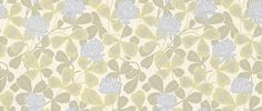 Klover (033-13) - Duro Wallpapers - An all over design with clover leaves and clover flowers in a hand printed effect. Shown in pale green and blue. Please request a sample for true colour match.