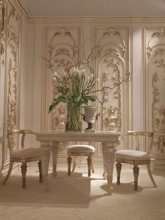 Ivory and Gold. Elegant.