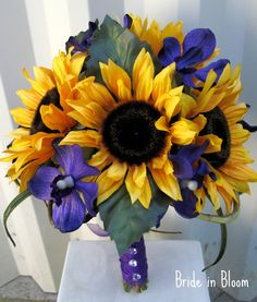 Purple, sunflower bouquet