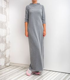 NEW SS16 Grey Maxi Dress Long dress Spring by cherryblossomsdress