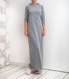 NEW SS16 Grey Maxi Dress Long dress Spring by cherryblossomsdress