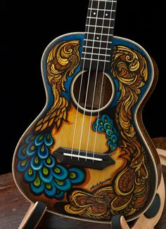 Hand painted uke from Lichty Guitars
