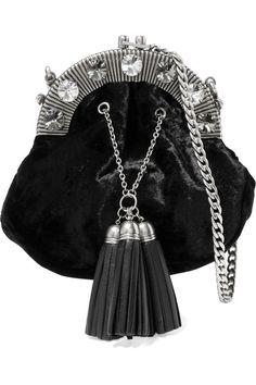 MIU MIU . #miumiu #bags #shoulder bags #leather #velvet #crystal #
