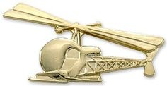 Pin: Bell 47 Helicopter Gold