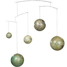 Authentic Models Globe Mobile contemporary-world-globes Travel Theme Nursery, Nursery Themes, Nursery Decor, Nursery Ideas, Nursery Mobiles, Project Nursery, Baby Mobiles, Themed Nursery, Room Decor