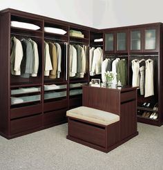 This closet is probably bigger than my bedroom, but WOW.