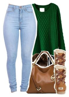 """10.16.15"" by jadeessxo ❤ liked on Polyvore featuring Tom Ford, MICHAEL Michael Kors and UGG Australia"