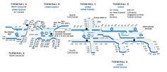 Houston George Bush Intercontinental (IAH) Airport Map